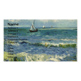 Van Gogh Seascape at Saintes-Maries  (F415) Pack Of Standard Business Cards