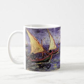 Van Gogh Seascape at Saintes Maries, Fine Art Coffee Mug