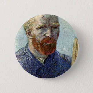 Van Gogh Self Portrait. 6 Cm Round Badge