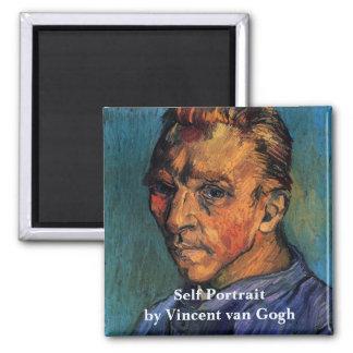 Van Gogh Self Portrait (Beardless) Square Magnet