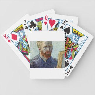 Van Gogh Self Portrait. Bicycle Playing Cards