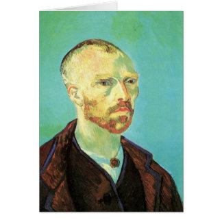 Van Gogh Self Portrait (Dedicated to Paul Gauguin) Card