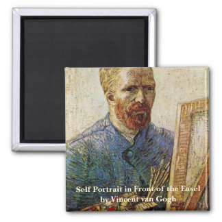 Van Gogh; Self Portrait in Front of the Easel Fridge Magnet