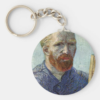 Van Gogh Self Portrait. Key Ring
