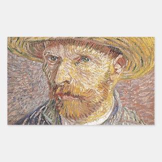 Van Gogh self portrait Rectangular Sticker