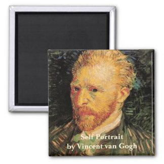 Van Gogh Self Portrait Square Magnet