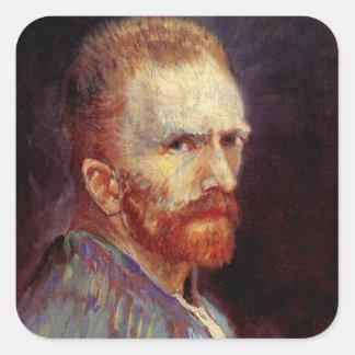 Van Gogh Self Portrait Square Sticker