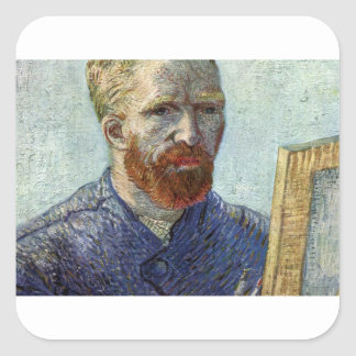 Van Gogh Self Portrait. Square Sticker