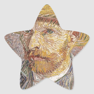 Van Gogh self portrait Star Sticker