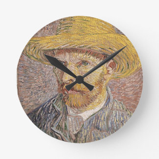 Van Gogh self portrait Wallclocks