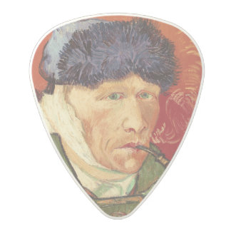 Van Gogh Self-portrait with Bandaged Ear and Pipe Polycarbonate Guitar Pick