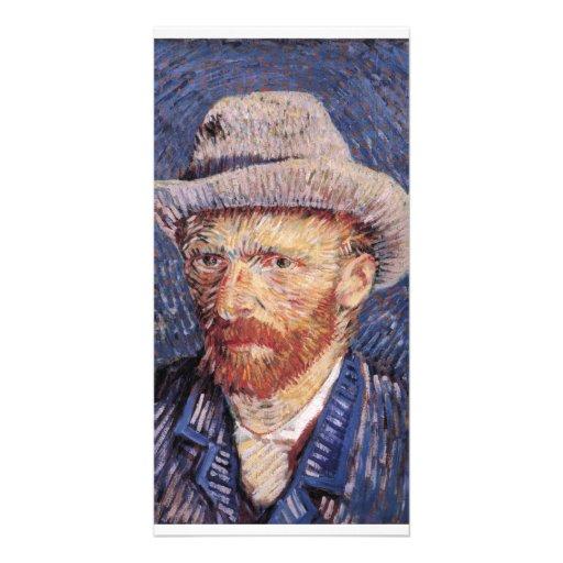 Van Gogh Self-Portrait with Felt Hat Photo Greeting Card