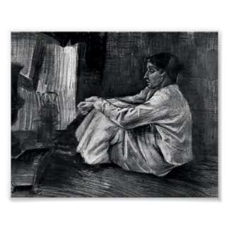Van Gogh - Sien with Cigar Sitting on the Floor Poster