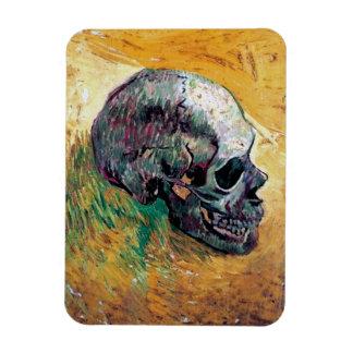 Van Gogh - Skull In Profile Rectangular Photo Magnet