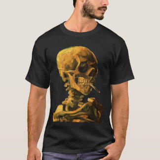 van gogh skull smokes T-Shirt