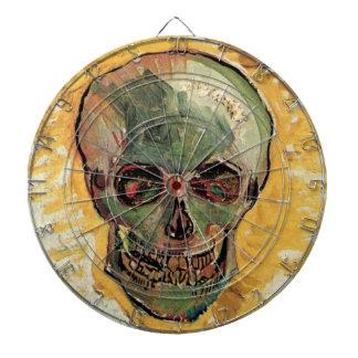 Van Gogh Skull, Vintage Impressionism Still Life Dart Board