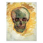 Van Gogh Skull, Vintage Impressionism Still Life Invitation