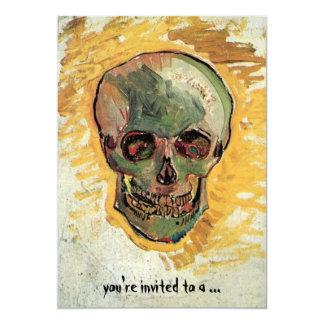 Van Gogh Skull, Vintage Still Life Impressionism Card