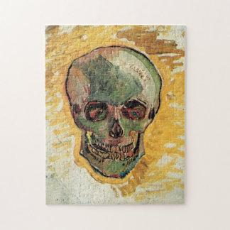 Van Gogh Skull, Vintage Still Life Impressionism Jigsaw Puzzle