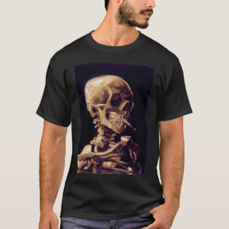 van gogh  skull with a burning cigarette  vincent  T-Shirt