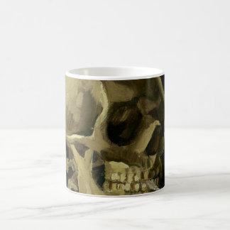 Van Gogh | Skull with Burning Cigarette | 1886 Basic White Mug