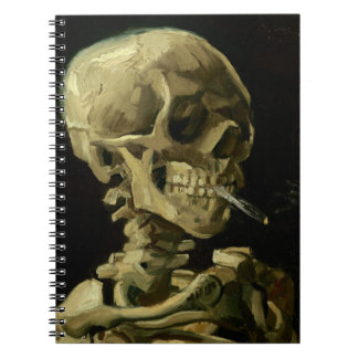 Van Gogh | Skull with Burning Cigarette | 1886 Note Books
