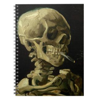 Van Gogh | Skull with Burning Cigarette | 1886 Notebooks