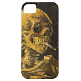 Van Gogh Skull with Burning Cigarette Barely There iPhone 5 Case