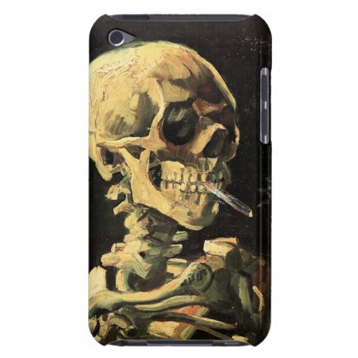Van Gogh Skull with Burning Cigarette iPod Case Barely There iPod Case