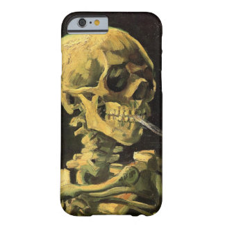 Van Gogh Skull with Burning Cigarette, Vintage Art Barely There iPhone 6 Case
