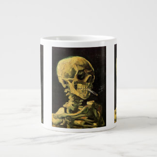 Van Gogh Skull with Burning Cigarette, Vintage Art Giant Coffee Mug