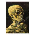 Van Gogh Skull with Burning Cigarette, Vintage Art Personalised Invites