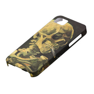 Van Gogh Skull with Burning Cigarette, Vintage Art iPhone 5 Cases