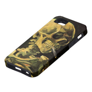 Van Gogh Skull with Burning Cigarette, Vintage Art iPhone 5 Cover