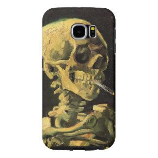 Van Gogh Skull with Burning Cigarette, Vintage Art Samsung Galaxy S6 Cases