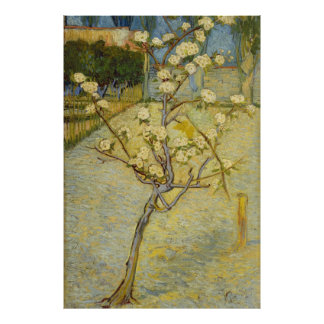 Van Gogh Small Pear Tree in Blossom (F405) Poster