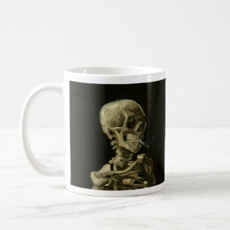 Van Gogh Smoking Skeleton Coffee Mug