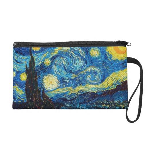 Van Gogh Starry Night Bag Wristlet Purses