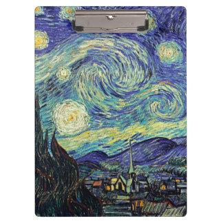 Van Gogh Starry Night Clipboard