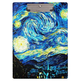 Van Gogh - Starry Night Clipboard