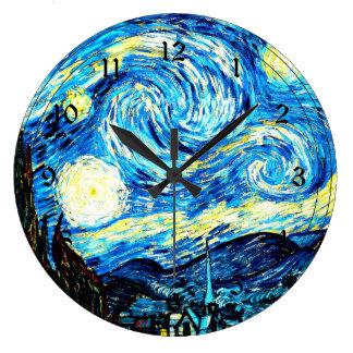Van Gogh - Starry Night Clocks