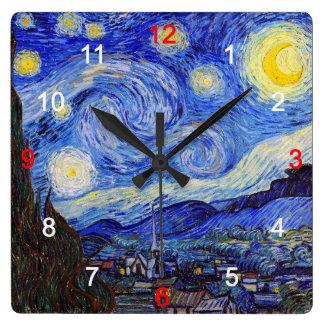 "Van Gogh, ""Starry Night"" Clocks"