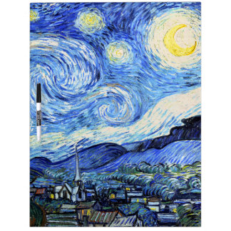 Van Gogh Starry Night Dry Erase Board