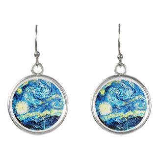 Van Gogh - Starry Night Earrings