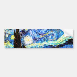 Van Gogh Starry Night (F612) Vintage Fine Art Bumper Sticker