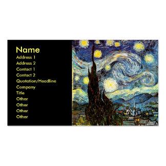 Van Gogh Starry Night (F612) Vintage Fine Art Business Cards