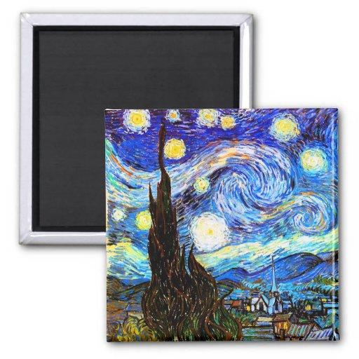 Van Gogh Starry Night (F612) Vintage Fine Art Magnets