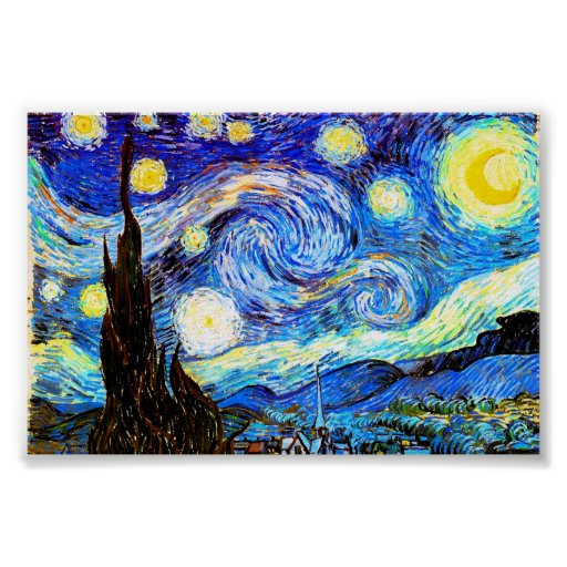 Van Gogh Starry Night (F612) Vintage Fine Art Posters