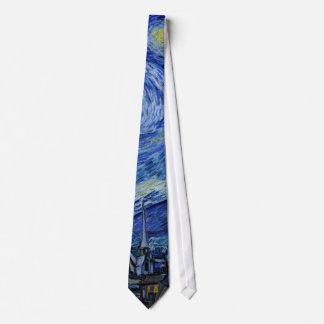 Van Gogh Starry Night (F612) Vintage Fine Art Tie