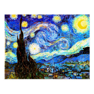 Van Gogh Starry Night Fine Art Postcard